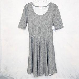 Lularoe Quilted Nicole Dress Gray XL NWT!